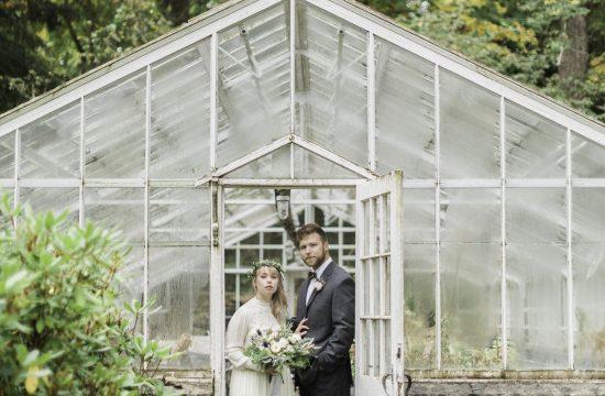 Matt and Chelsey Nelson wedding green house