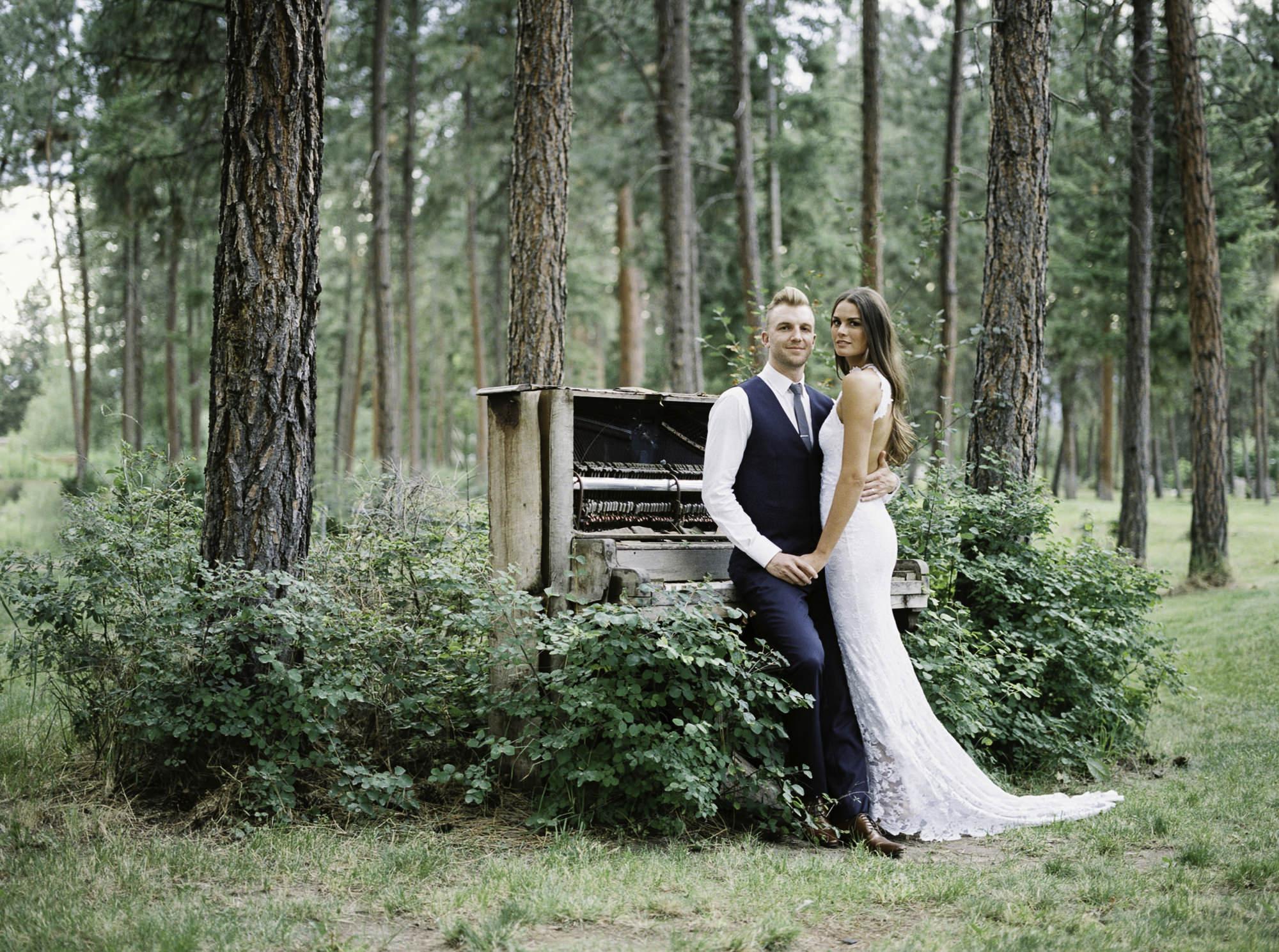 Kelowna wedding Bottega old piano