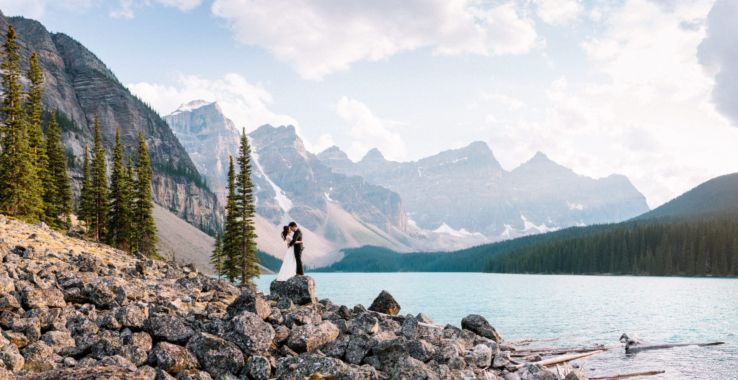 Billy and Yvonne at Moraine Lake