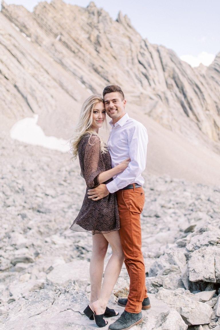 Banff national park summer engagement session