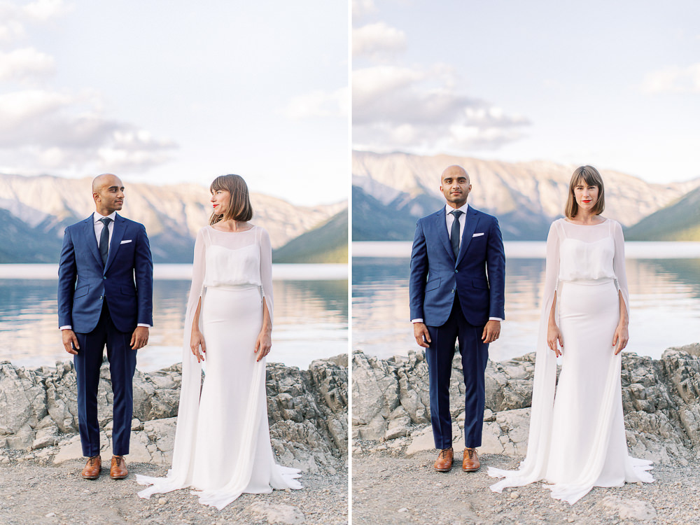 Calgary wedding photography Banff wedding photoshoot lake minnewanka