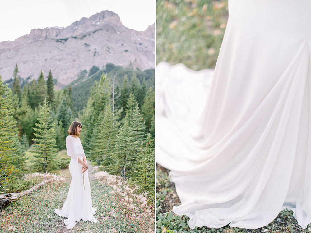 Calgary wedding photography Banff wedding photoshoot bridal portraits
