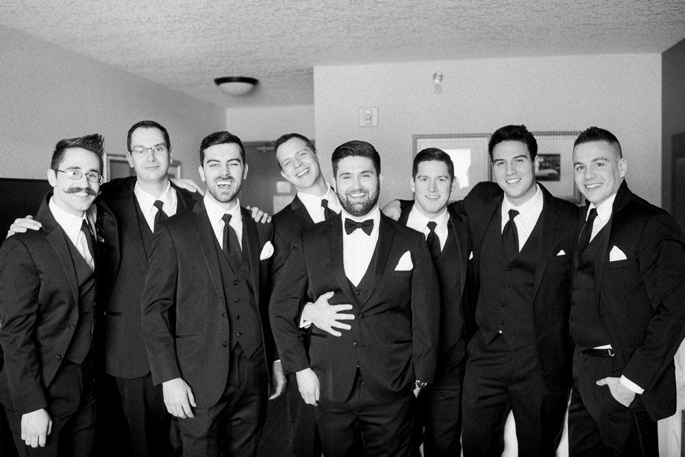 Calgary wedding photography-Silvertip New years eve wedding canmore groomsmen