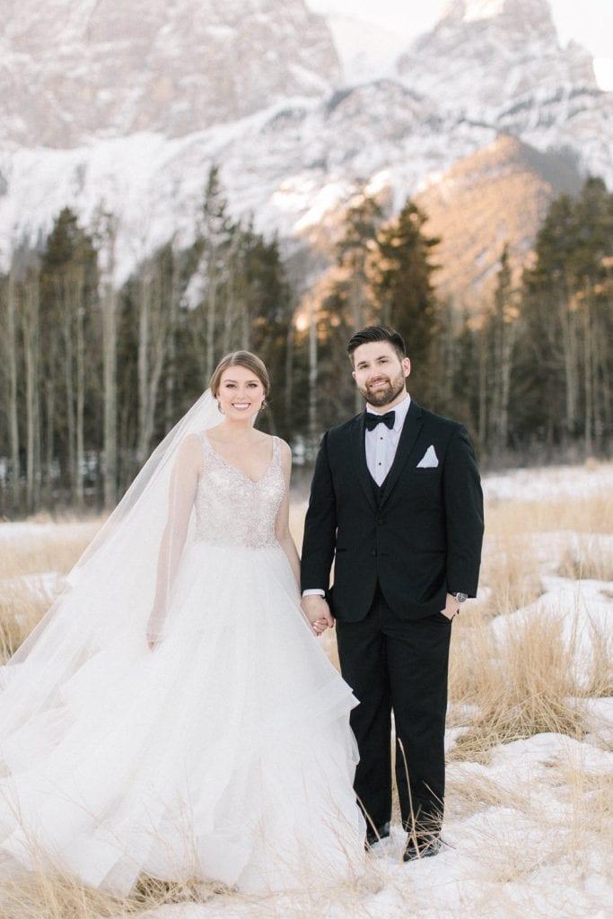 Calgary wedding photography-Silvertip New years eve wedding canmore couple