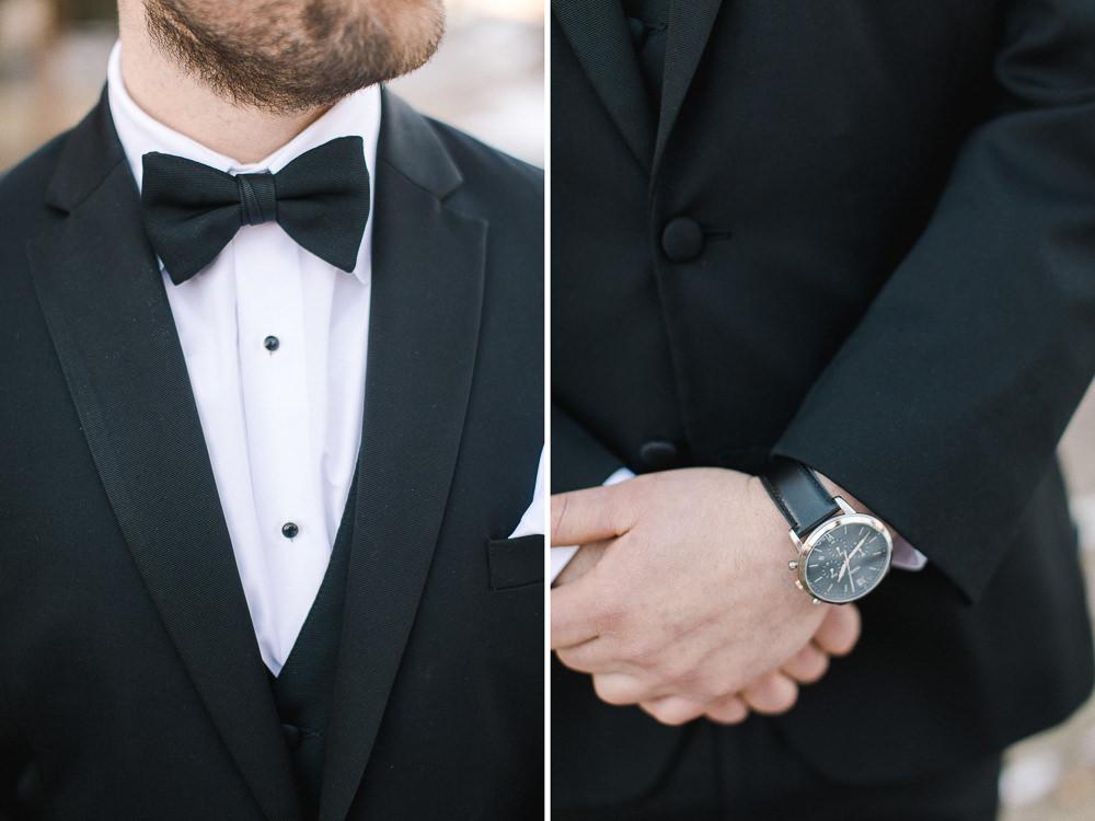 Calgary wedding photography-Silvertip New years eve wedding canmore groom black tux