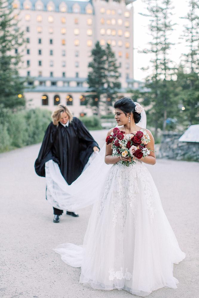 Banff wedding photography Lake Louise sunrise ceremony