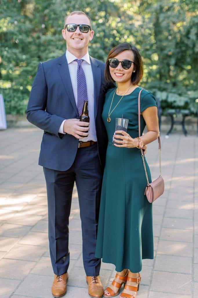 A Norland Estate Wedding Calgary wedding photographer cocktail hour