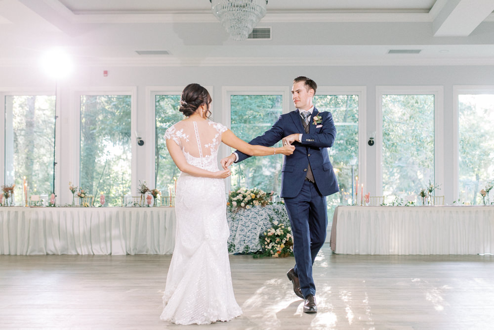 A Norland Estate Wedding Calgary wedding photographer the first dance