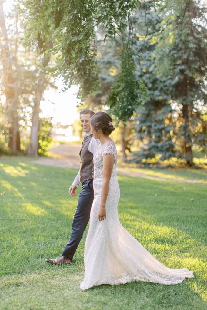 A Norland Estate Wedding Calgary wedding photographer sunset photos