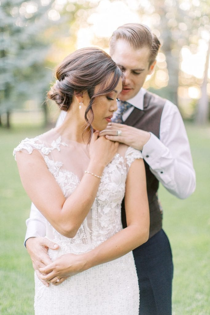 A Norland Estate Wedding Calgary wedding photographer sunset photos