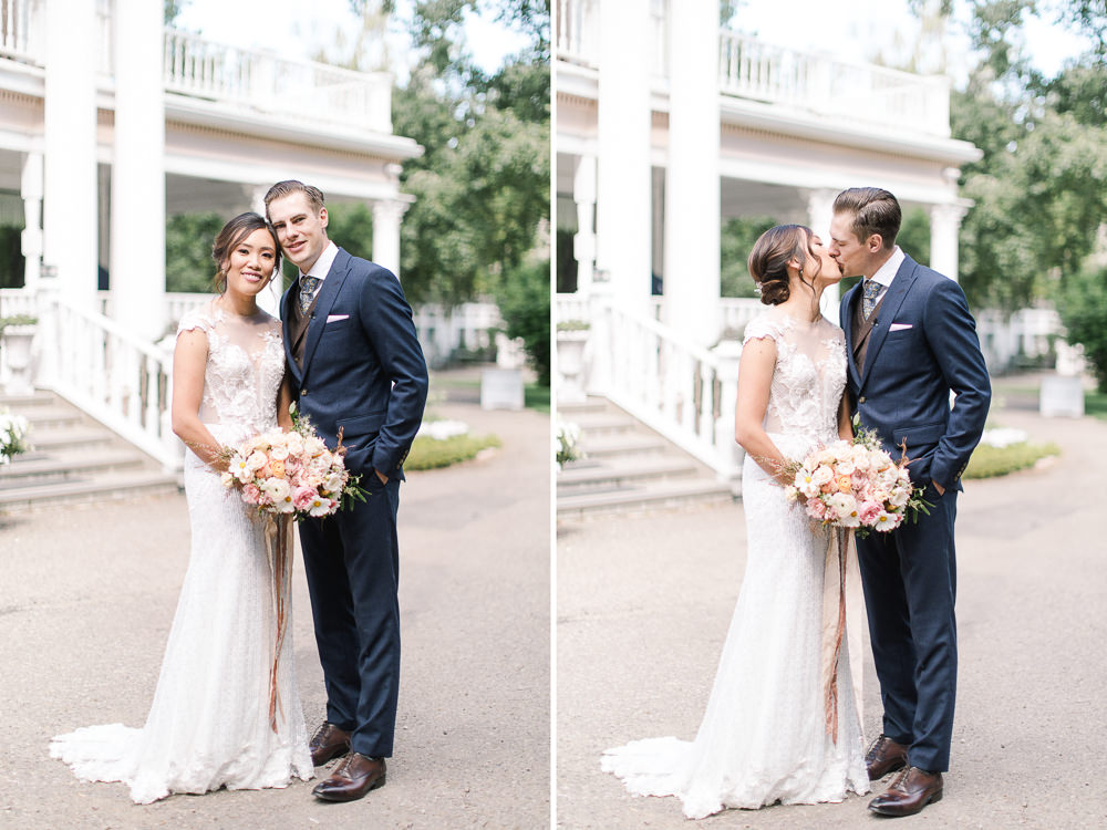 A Norland Estate Wedding Calgary wedding photographer the couple