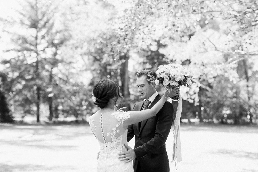 A Norland Estate Wedding Calgary wedding photographer first look