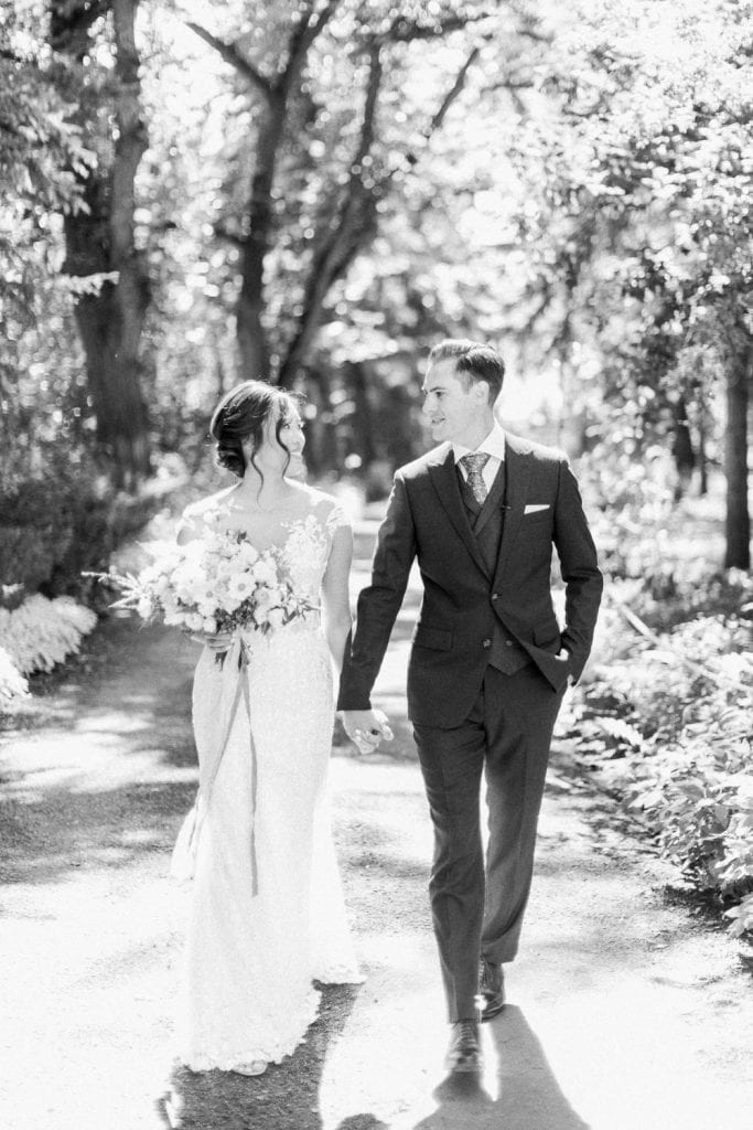 A Norland Estate Wedding Calgary wedding photographer the couple