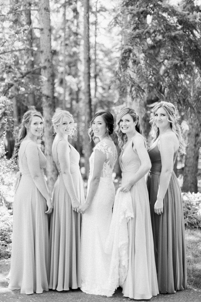A Norland Estate Wedding Calgary wedding photographer the bridal party