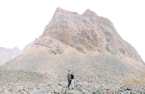 Banff fall engagement session mountain