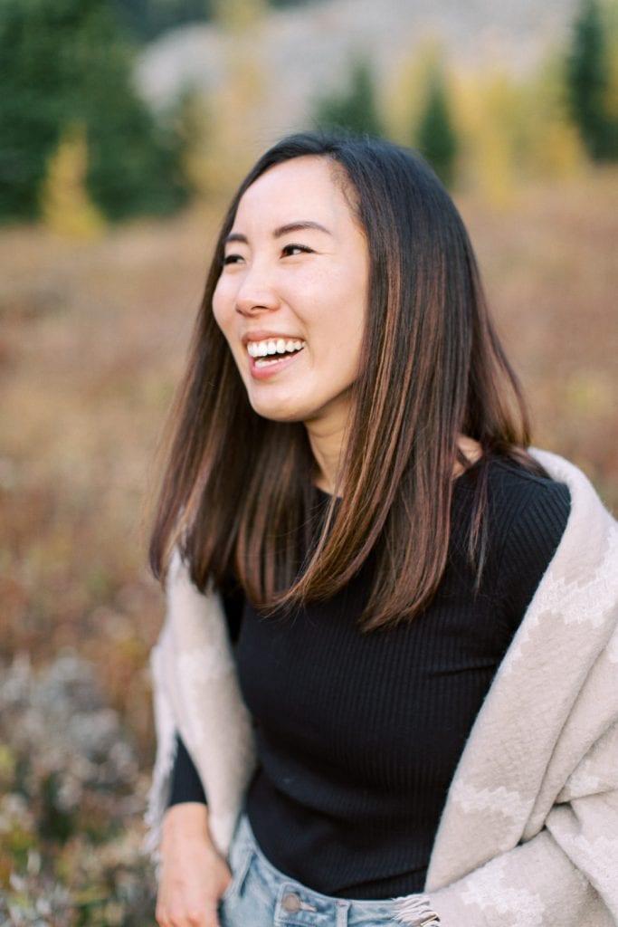 Banff fall engagement session portrait