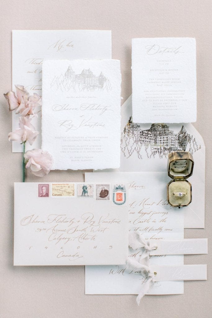 Banff wedding photography stationary