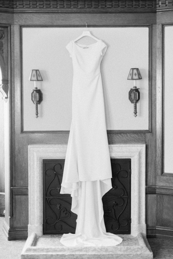 Banff wedding photography gown