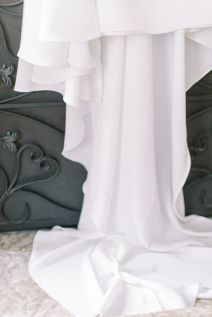 Banff wedding photography gown detail