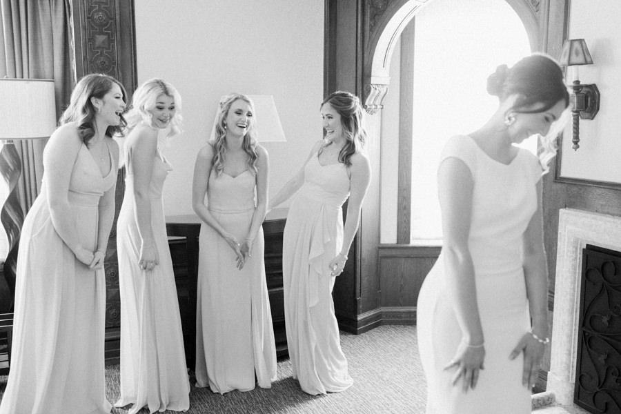 Banff wedding photography bride dress reveal
