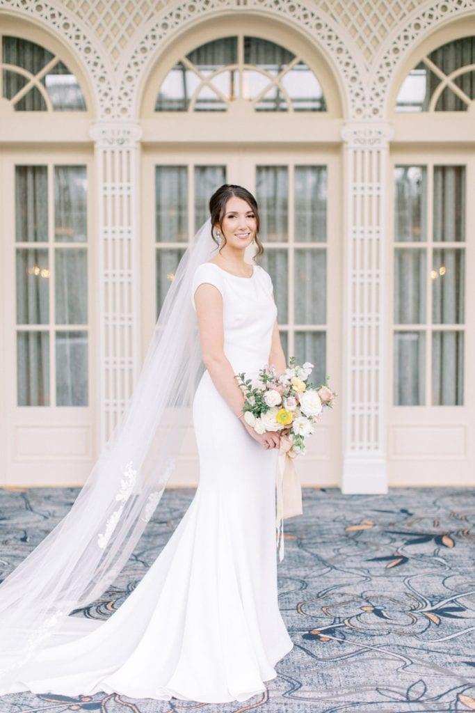 Banff wedding photography bridal portrait