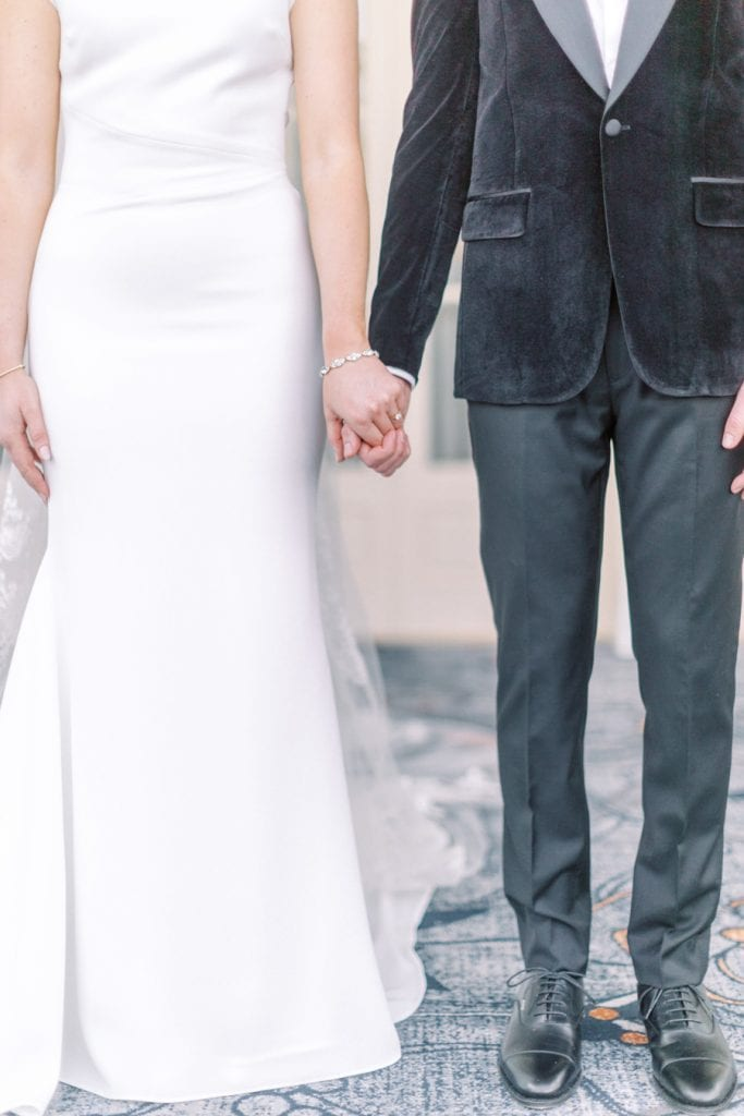 Banff wedding photography couple portrait holding hands