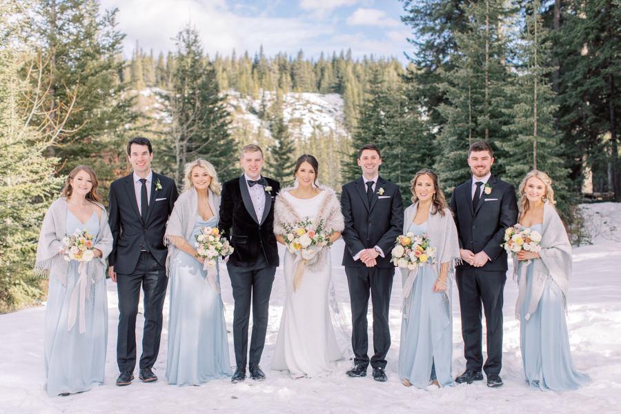 Banff wedding photography bridal party