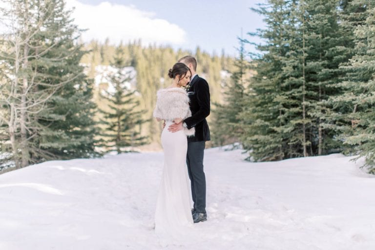 Banff wedding photography Fairmont Banff springs winter micro wedding