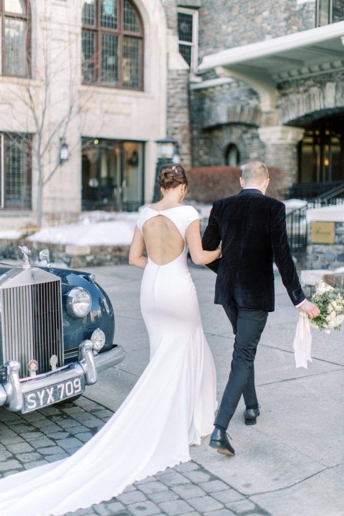 Banff wedding photography couple portrait walking