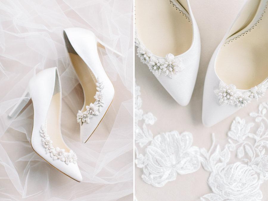 Banff wedding photography bridal shoes detail