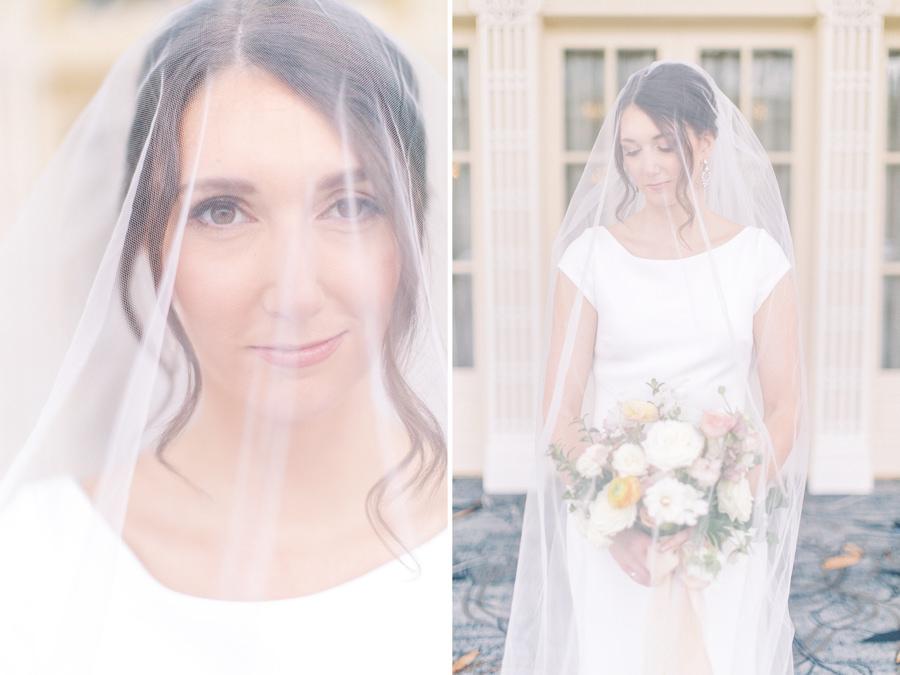 Banff wedding photography bridal portrait veil